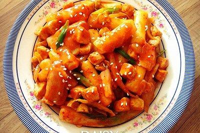 减脂增肌韩式鸡胸炒年糕