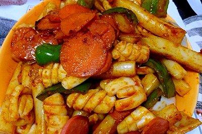 韩式鱿鱼年糕条