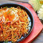 日式蟹肉炒面