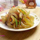 洋葱炒卤水猪皮