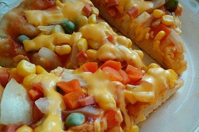 电饼铛版田园披萨