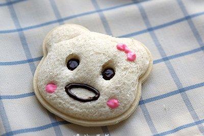 超萌超可爱的小熊口袋三明治