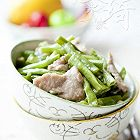 豇豆炒肉片