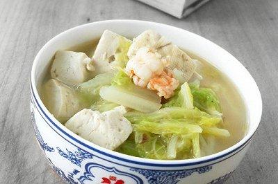鲜虾白菜炖豆腐
