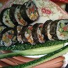 玉米火腿肉松黄瓜寿司