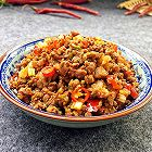 芹菜炒牛肉末