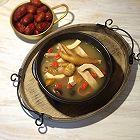 椰子板栗鸡爪汤