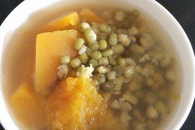 电饭煲版南瓜绿豆汤