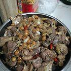 客家特色菜一鸭肉炒黄豆