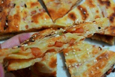 芝香火腿葱油饼