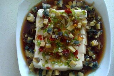 彩丁皮蛋豆腐