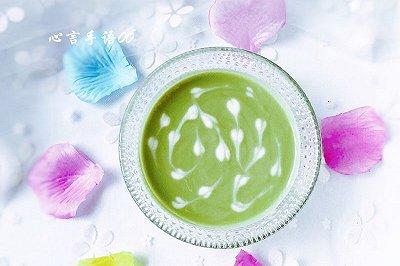 拉花抹茶酸奶
