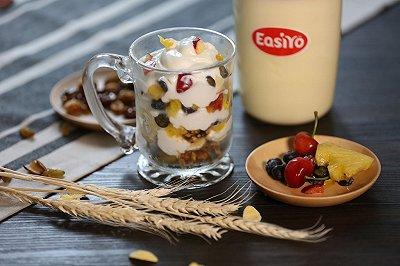 健康美味的缤纷酸奶杯