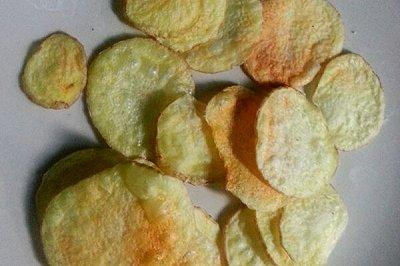 宿舍料理微波无油低卡薯片