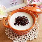 核桃奶香黑米粥