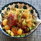 玉米豌豆腊肠糯米饭