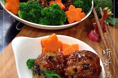 家常菜红烧肉丸