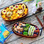 牛油果虾仁沙拉配鲜肉饭团