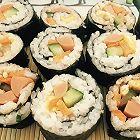 胡萝卜青瓜火腿鸡蛋寿司