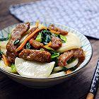 牛肉青菜炒年糕