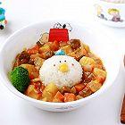 蒜香番茄卡通儿童咖喱饭