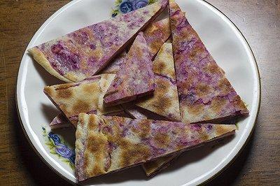 玉米发面紫薯饼
