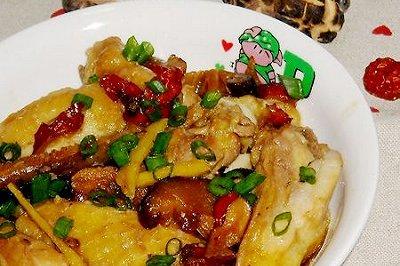 冬菇红枣蒸滑鸡