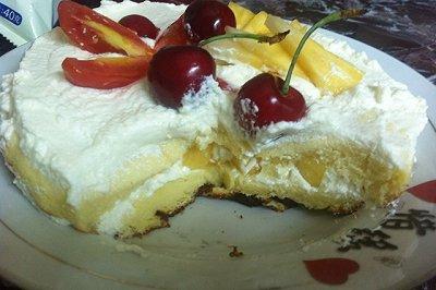母亲节礼物双层水果蛋糕