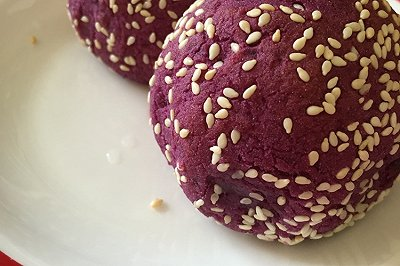 电炸锅版紫薯麻团
