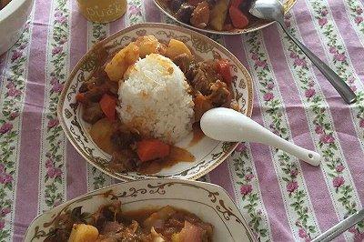 南瓜牛肉烩饭