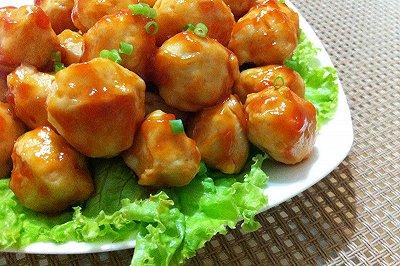 番茄汁鸡肉丸