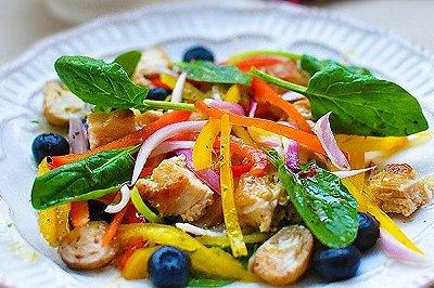 鸡肉油醋汁果蔬沙拉