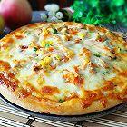 黑椒鸡肉蔬菜披萨