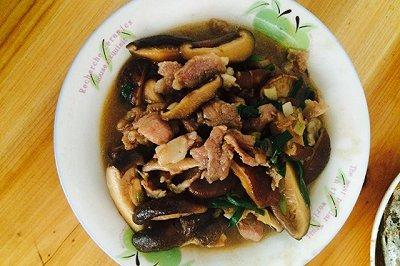 蚝油香菇炒肉片