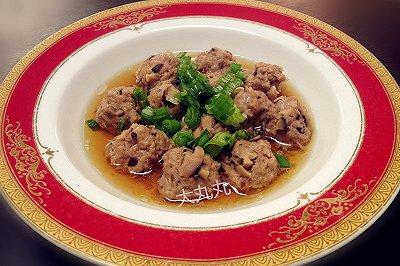 清蒸干香菇牛肉丸