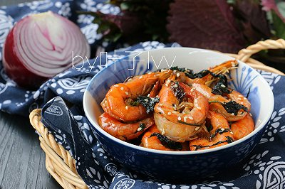 下酒菜椒盐紫苏虾