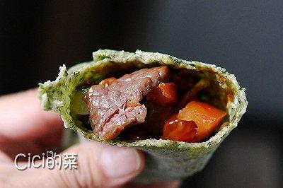 菠菜牛肉卷