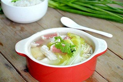 白菜豆腐肉丸汤