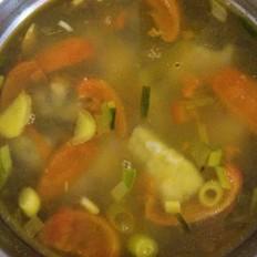 西红柿鳗鱼滑汤