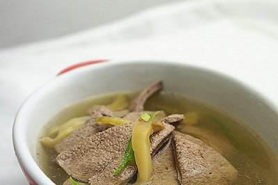 榨菜猪肝汤乌江榨菜