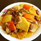 肉炒白菜土豆片