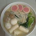 菠菜鱼丸面