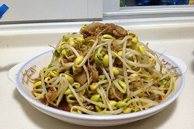 豆芽菜炒肉
