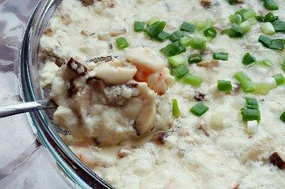 牛肉末鲜虾蒸豆腐
