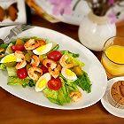 低卡减脂鲜虾蔬菜沙拉