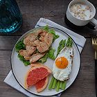健康减脂早餐—香煎鸡脯肉