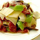 青椒茭白炒香肠