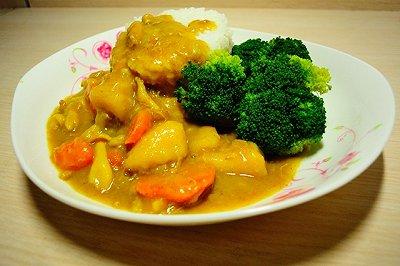 宿舍咖喱鸡肉饭