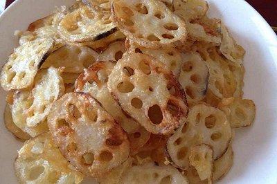 炸藕片(比薯片还好吃)