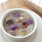 紫薯芋圆鲜银耳汤